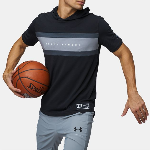 9ce32c1bfd Shop Black Under Armour SC30 Splash Hooded Basketball T-Shirt for ...