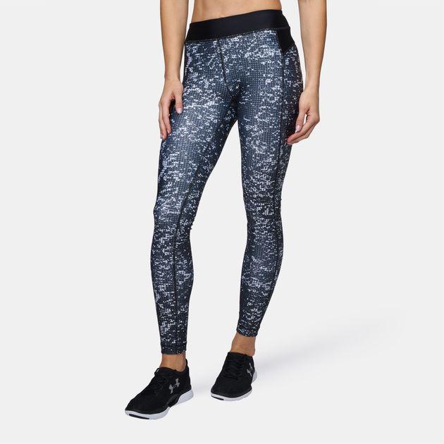 8609e30e75337 Shop Black Under Armour™ HeatGear® Armour Printed Leggings for ...