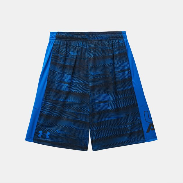 beefa6a35 Shop Blue Under Armour Kids' Stunt Printed Shorts for Kids by Under ...