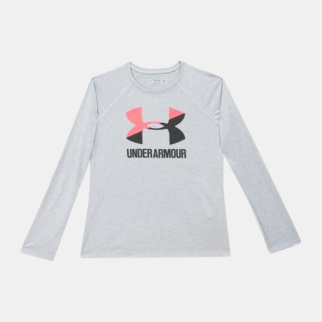 bf2659fb Under Armour Kids' Big Logo Slash Long Sleeve Shirt | T-Shirts ...