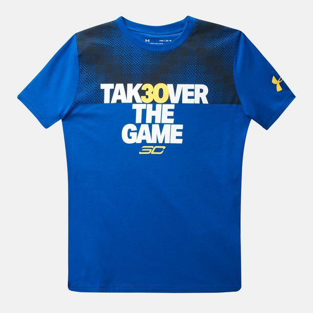 Under Armour SC30 Light Up The Court Boys Basketball T-Shirt 1298283 400 NWT