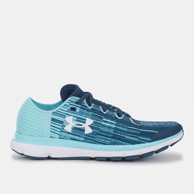 sale retailer ad60e 695f1 Shop Blue Under Armour SpeedForm Velociti Graphic Shoe for ...