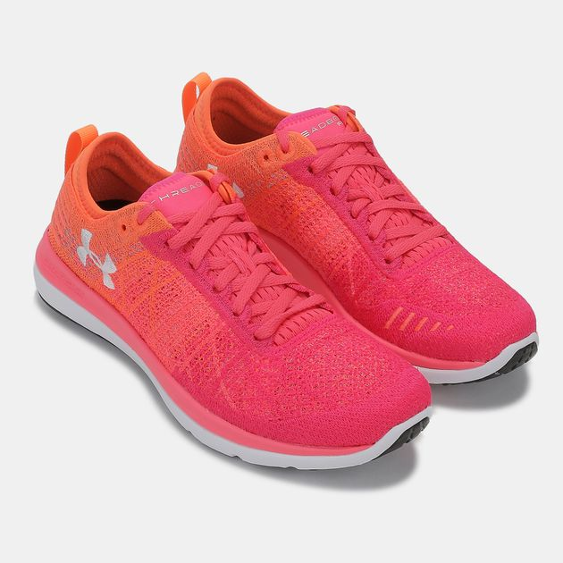 new concept 212b0 84505 Shop Pink Under Armour Threadborne Fortis 3 Shoe for Womens ...