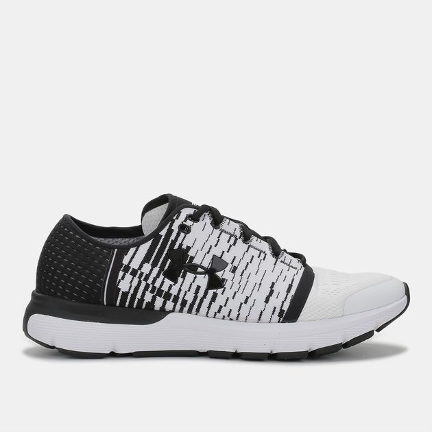 check out a0b3e a9ad8 Shop White Under Armour Speedform Gemini 3 Graphic Running ...