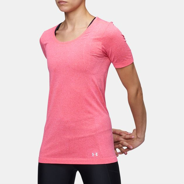 f42b7d6b94fb5 Shop Red Under Armour Threadborne Seamless Heathered T-Shirt for ...