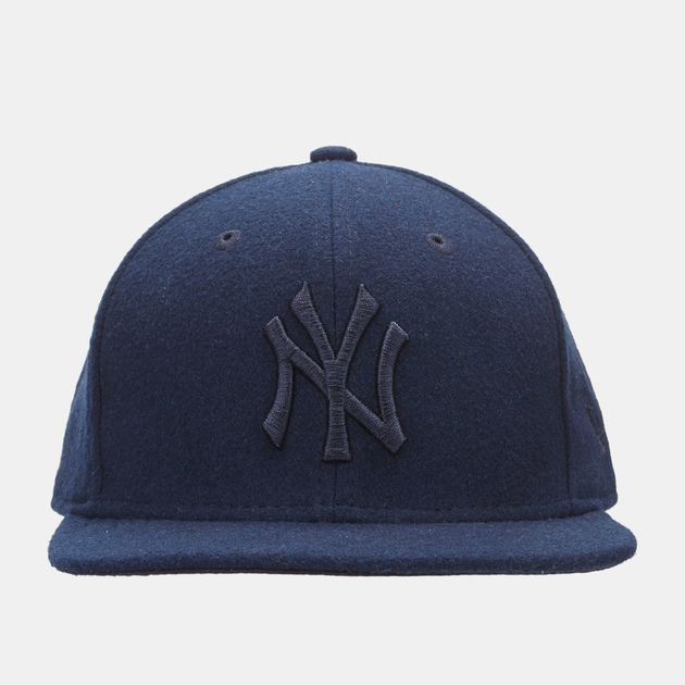 Shop Blue New Era MLB New York Yankees Melton Tonal 9FIFTY Snapback ... 9b4048bf64a4