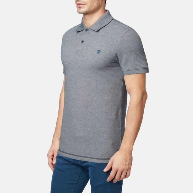 bf4a2ecf Shop Blue Timberland Millers River Oxford Polo T-Shirt for Mens by ...