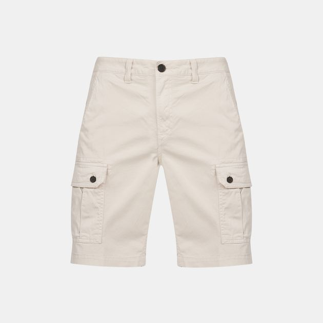 7b43d82036 Shop Grey Timberland Squam Lake Stretch Cargo Shorts for Mens by ...