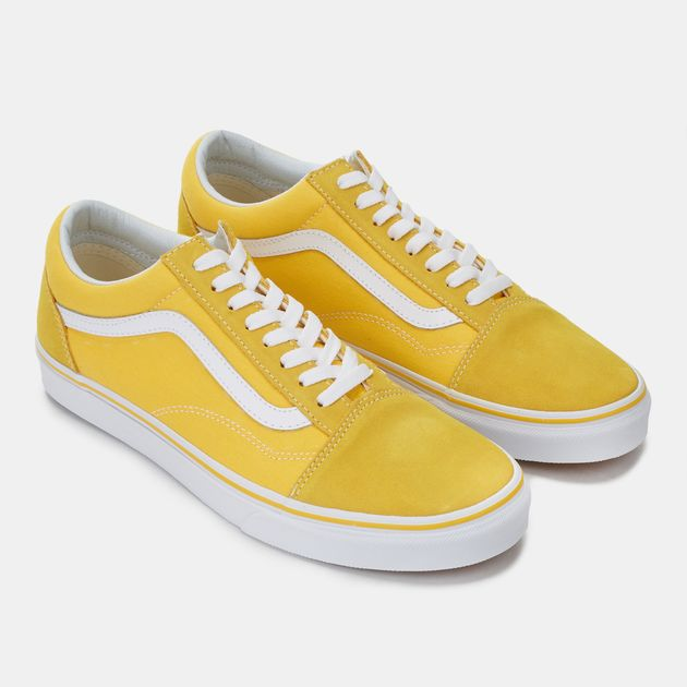 1bb308789585 Shop Yellow Vans Suede Old Skool Shoes for Mens by Vans