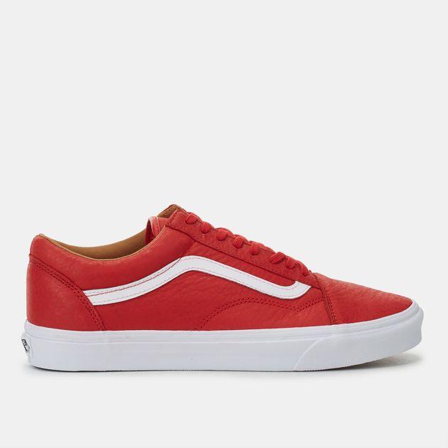 ec2803c791 Shop Red Vans Premium Leather Old Skool Shoes for Mens by Vans