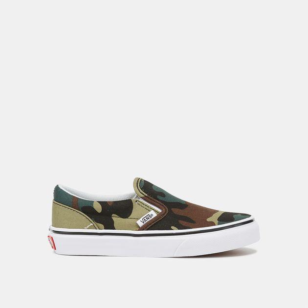 Vans Kids' Woodland Camo Slip-On Shoe