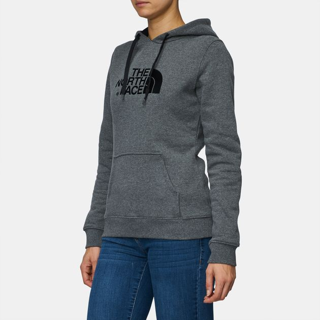 d8928089d8 Shop Grey The North Face Drew Peak Pullover Hoodie for Womens by The ...