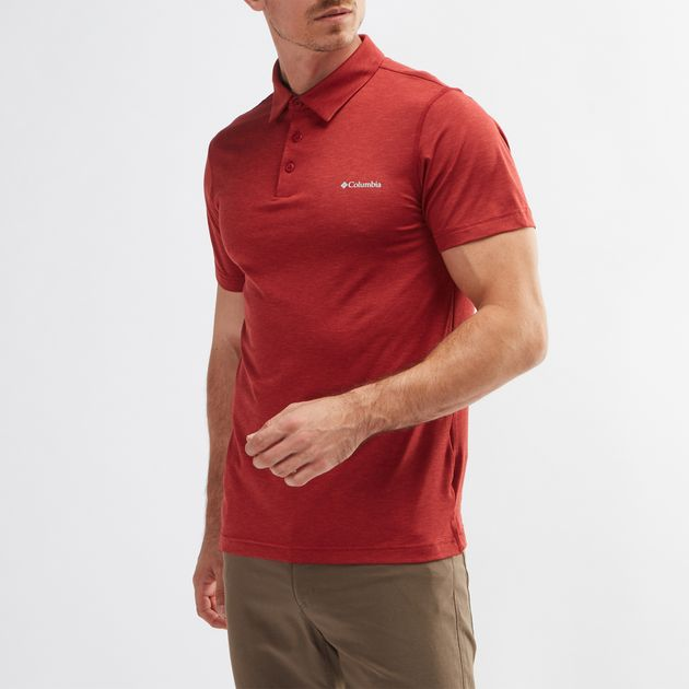 87846faffe0 Shop Red Columbia Tech Trail™ Polo T-Shirt for Mens by Columbia | SSS