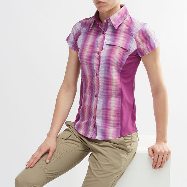 71424f33a15 Shop Purple Columbia Silver Ridge™ Plaid II Short Sleeve Shirt for ...