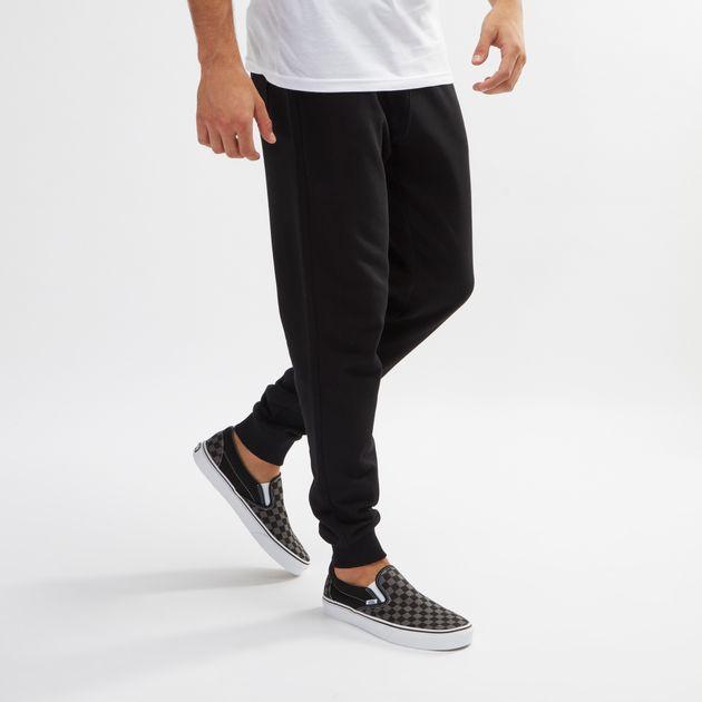 ec620eb52d07 Shop Black Vans Core Basic Fleece Sweatpants for Mens by Vans