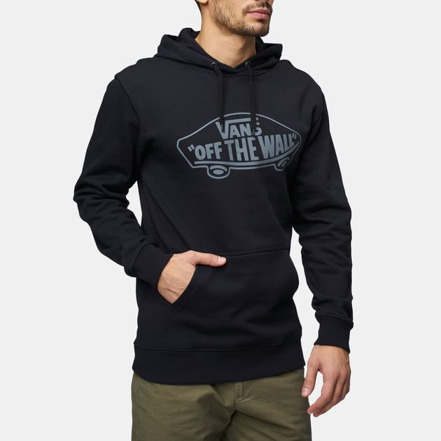 80ed8a7e4f54 Shop Black Vans OTW Pullover Fleece Hoodie for Mens by Vans
