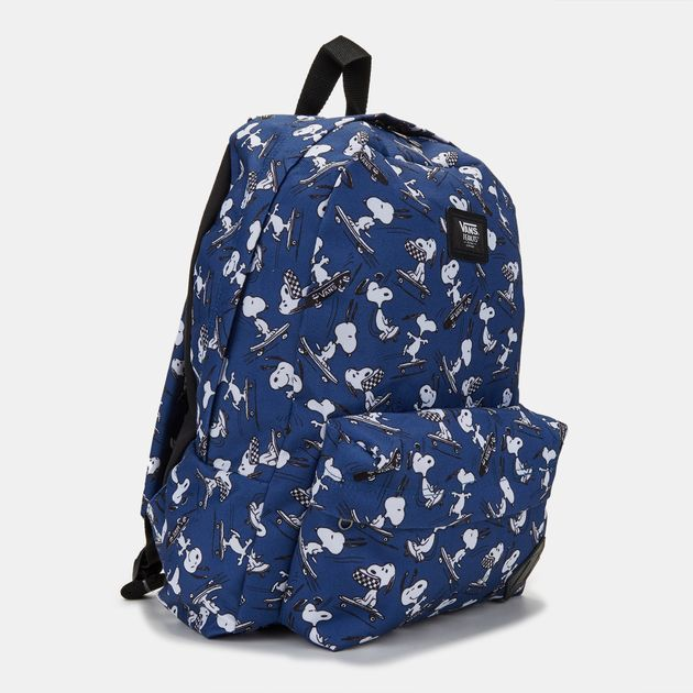 3afd466f41 Shop Blue Vans Peanuts Old Skool Backpack for Mens by Vans