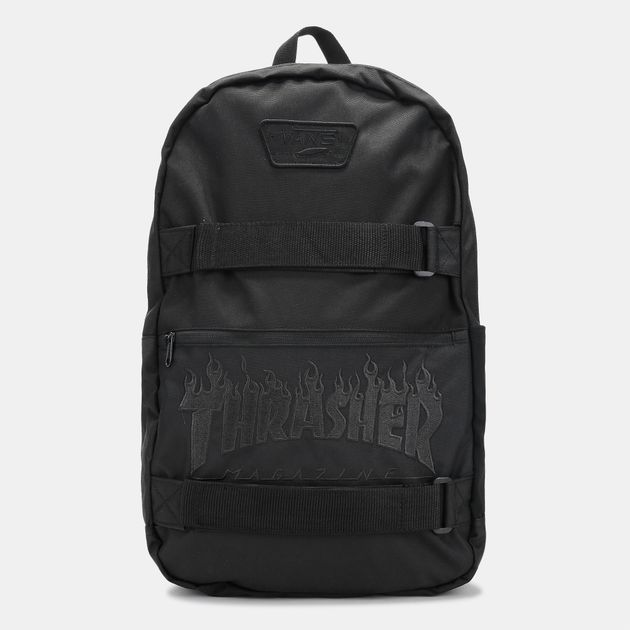 6f55bc38 Shop Black Vans x Thrasher Authentic Skater Backpack for Mens by ...