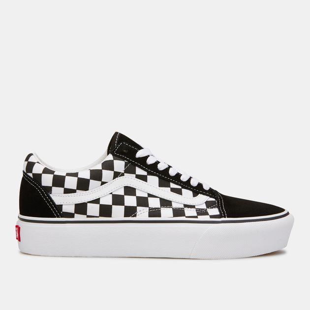 Vans Old Skool Black & White Checkered Platform Shoes | Vans