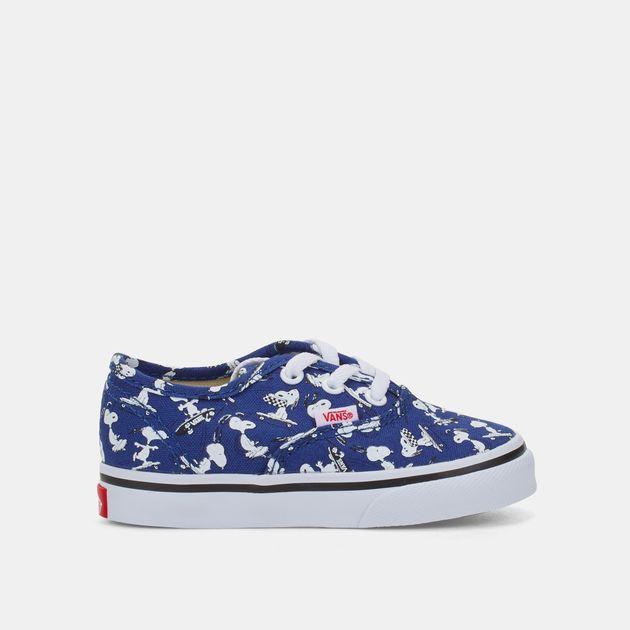 b995a7887aa2 Shop Multi Vans Kids  Peanuts Authentic Shoe (Toddler) for Kids by ...