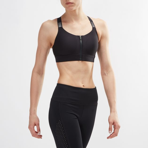 94598f4aad1ed Shop Black Under Armour Vanish High Zip Sports Bra for Womens by ...