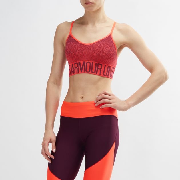 c6dfef390ceac Shop Orange Under Armour Seamless Ombre Printed Sports Bra for ...