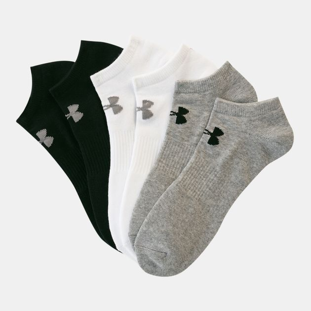 5e7b90ae330 Under Armour Unisex Charged Cotton 2.0 No Show Socks 6 Pack