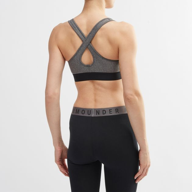 def425195 Under Armour Warp Knit High Heathered Sports Bra