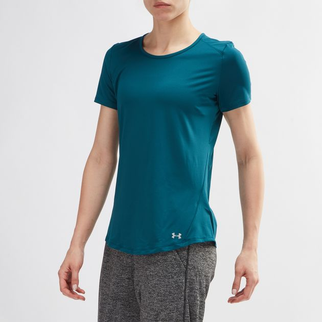 aa1079be Shop Green Under Armour Speed Stride T-Shirt for Womens by Under ...