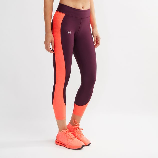 newest style of world-wide free shipping find lowest price Shop Purple Under Armour HeatGear Armour Ankle Crop Leggings ...