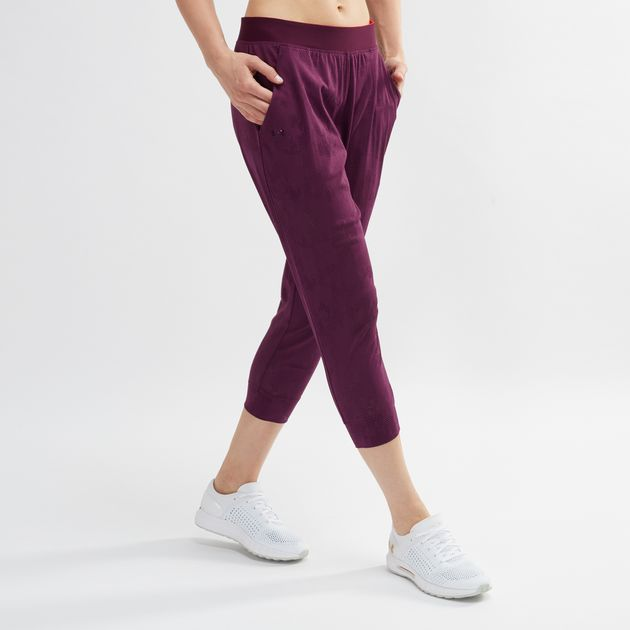 aea120bca8ce94 Shop Purple Under Armour Vanish Mesh Loose Crop Pants for Womens by ...