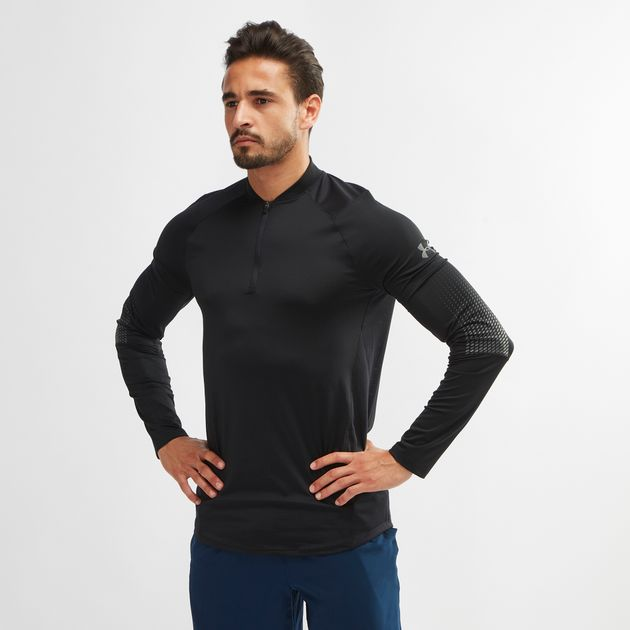488084fa Shop Black Under Armour MK-1 1/4 Zip Graphic Long-Sleeve T-Shirt for ...