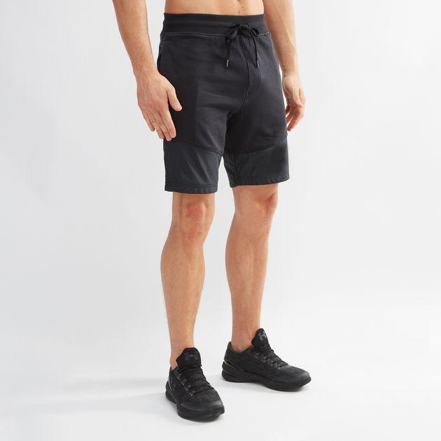 b048f23c9b96 Shop Black Under Armour Threadborne Terry Shorts for Mens by Under ...