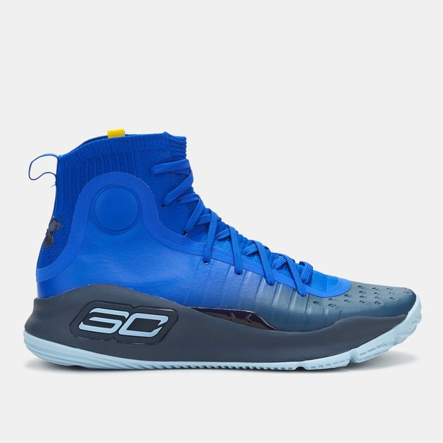the best attitude ceaa9 670cf Shop Blue Under Armour Curry 4 Basketball Shoe for Mens by ...