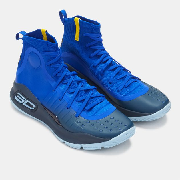 the best attitude eae23 6265d Shop Blue Under Armour Curry 4 Basketball Shoe for Mens by ...