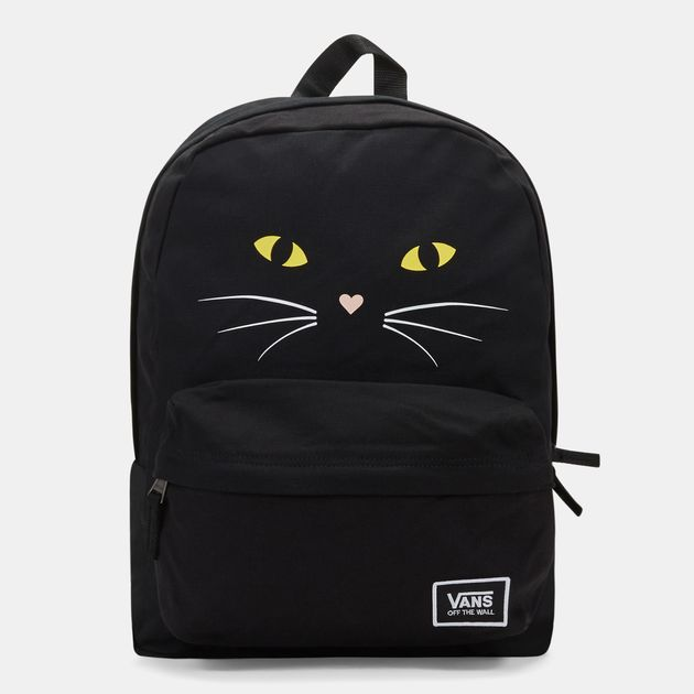 a0b034613f43f6 Shop Black Vans Realm Classic Backpack for Womens by Vans