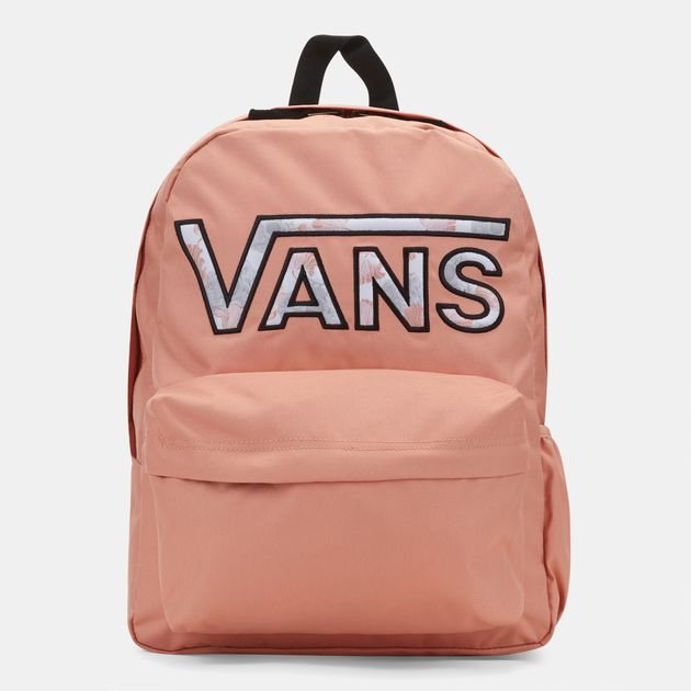 07783f169b4bf Shop Orange Vans Realm Flying V Backpack for Womens by Vans