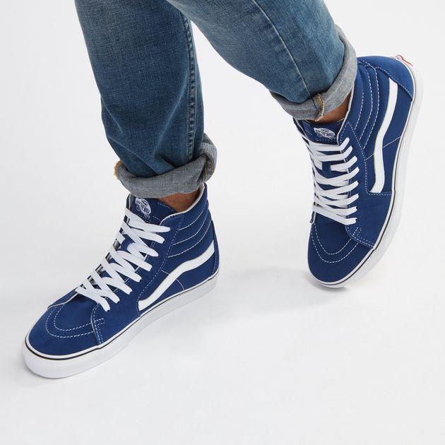 ae89d5f9f3f7 Shop Blue Vans UA Sk8-Hi Shoe for Unisex by Vans