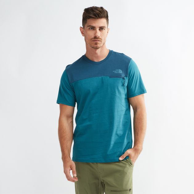 1b45e9913 Shop Blue The North Face Z-Pocket T-Shirt for Mens by The North Face ...