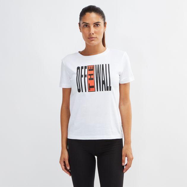 f6ca2fe420 Shop White Vans Legend Stamp Basic Crew T-Shirt for Womens by Vans
