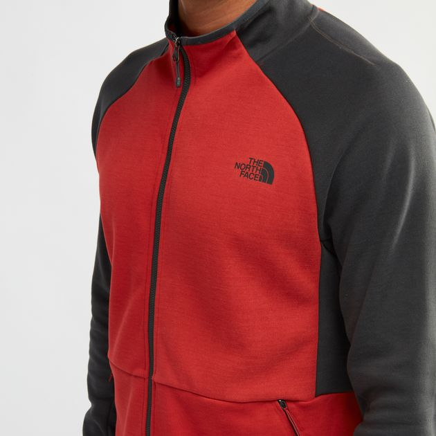 ae182d566 Shop Grey The North Face Mountain Slacker Full Zip Jacket for Mens ...
