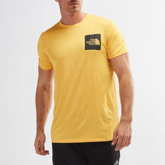 921c7ca0c Shop Yellow The North Face® Fine FlashDry™ T-Shirt for Mens by The ...