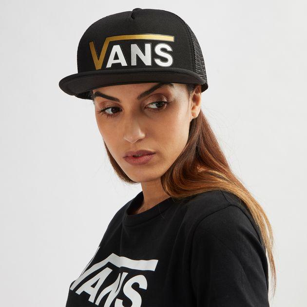 Shop Black Vans Beach Girl Flying V Trucker Cap for Womens by Vans  201d56f80c3