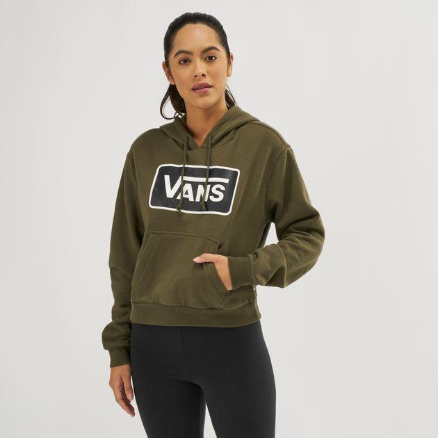 1a88df9a92 Shop Green Vans Boom Boom Hoodie | Hoodies | Hoodies and Sweatshirts ...
