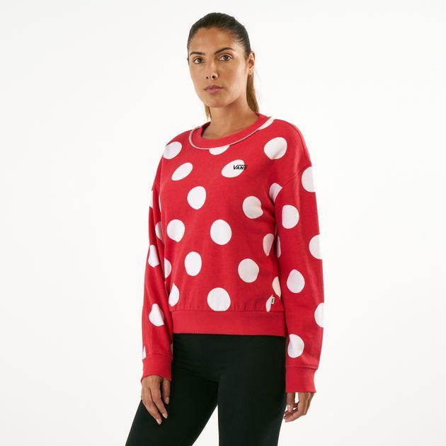 b87ff1eca9 Vans Women s x Disney Minnie Boxy Crew Sweatshirt