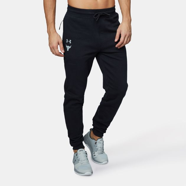 baa901af491 Shop Black Under Armour Project Rock UA Threadborne Fleece Joggers ...