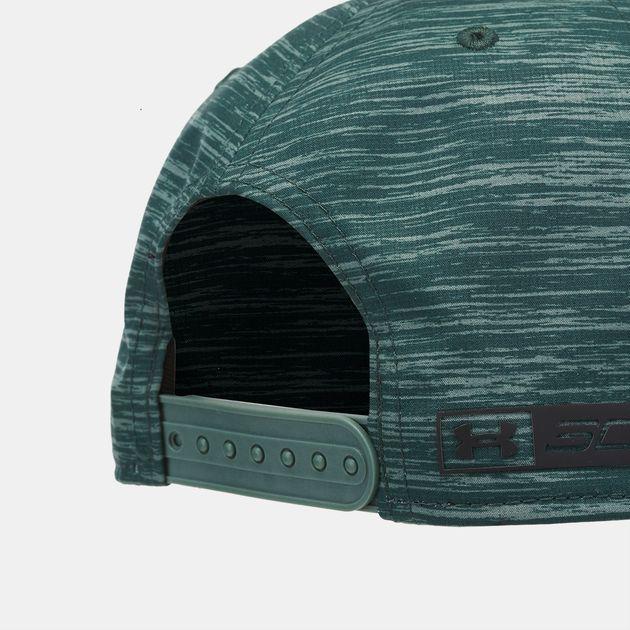 Shop Green Under Armour SC30 Core Snapback Cap  92ddaf9e053
