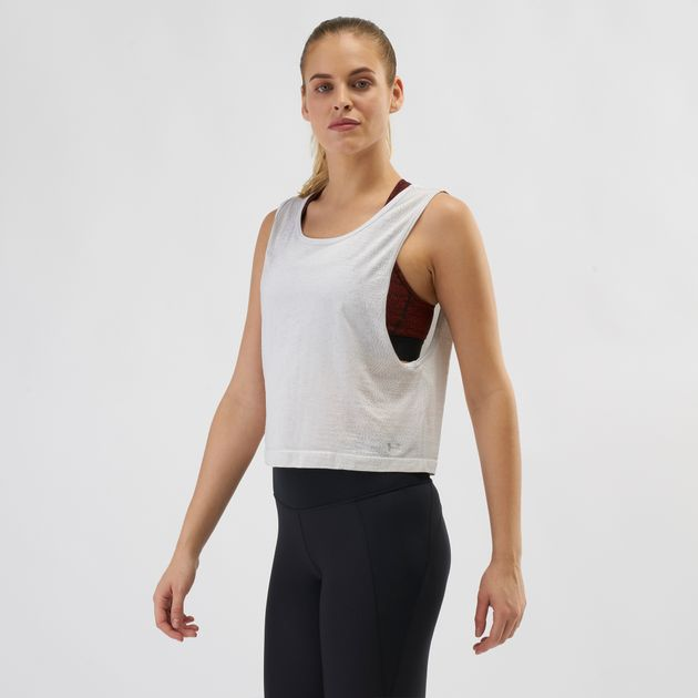 92236ecf Shop White Under Armour TB Seamless Muscle Spacedye Tank Top | Tank ...