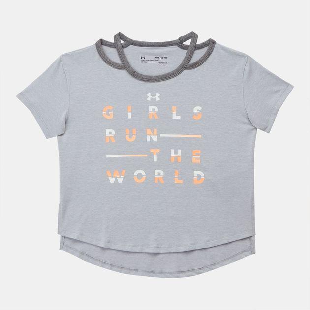 Under Armour Kids' Finale Girls Run The World T-Shirt