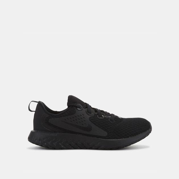 b0c4623c39fb Shop Black Nike Kids' Rebel React Running Shoe   Shoes   Nike ...